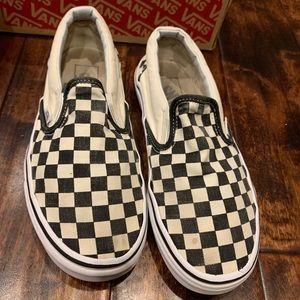 Vans Checkered Slip on Sneakers Women 8 Men 6.5